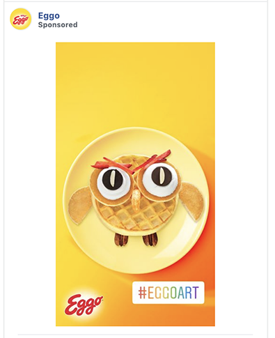Eggo ad uses a memorable hashtag
