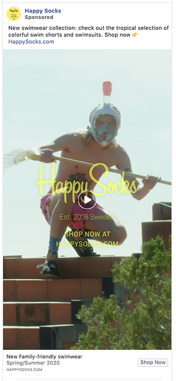Happy Socks ad is unapologetically on brand