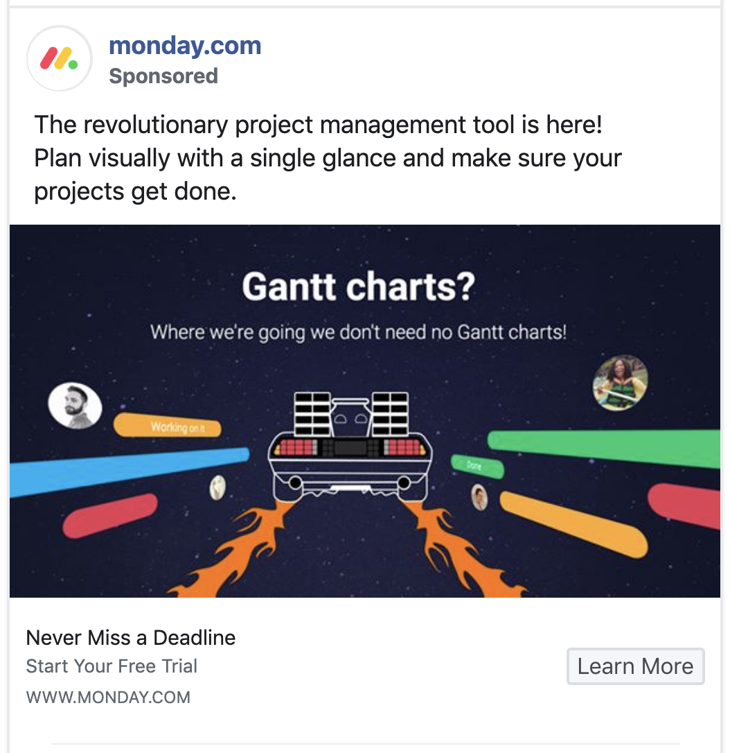Monday.com ad highlights key benefits