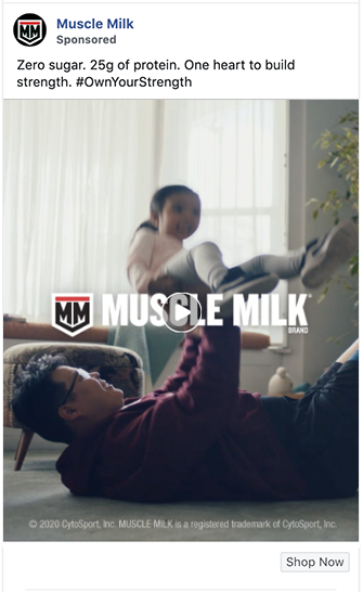 Muscle Milk ad appeals to core audience