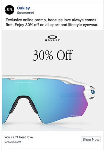 Oakley ad uses a great photo